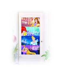 Disney Princess Heartstrong deurposter 70 x 160 cm.