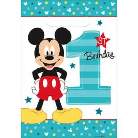Disney Mickey Mouse 1e verjaardag traktatiezakjes 8 st.
