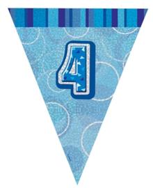 Vlaggenlijn blue glitter 4 jaar 2,74 mtr.