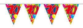 Vlaggenlijn balloons 70 jaar 10 mtr.