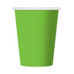 Lime groene wegwerp party bekertjes 270 ml. 6 st.