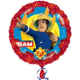 Brandweerman Sam folieballon ø 43 cm.