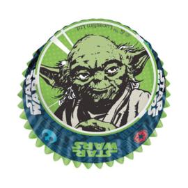Star Wars Yoda cupcake vormpjes 60 st.