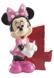 Disney Minnie Mouse 4e verjaardagskaars 3D