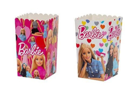 Barbie popcorn doosjes 7 x 7 x 14 cm. 6 st.