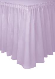 Tafelrok lavendel 73 x 426 cm.