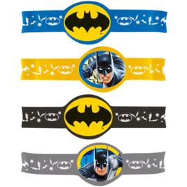 Batman rubberen uitdeel armbandjes 4 st.