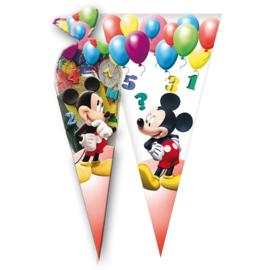 Disney Mickey Mouse snoep puntzak 20 x 40 cm. 6 st.