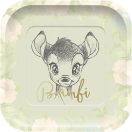 Disney Bambi bordjes vierkant 24 x 24 cm. 4 st.