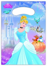 Disney Princess Assepoester traktatie zakjes 6 st.