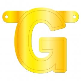 Banner letter G geel