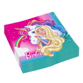 Barbie servetten Dreamtopia 33 x 33 cm. 20 st.