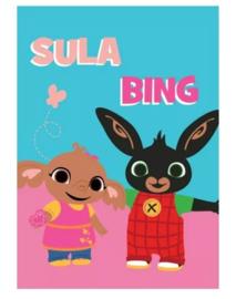 Bing en Sula fleecedeken 100 x 140 cm.