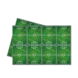 Voetbal tafelkleed 120 x 180 cm.
