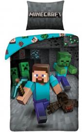Minecraft dekbedovertrek Run 140 x 200 cm.
