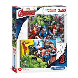 Avengers puzzel 2 x 60 stukjes
