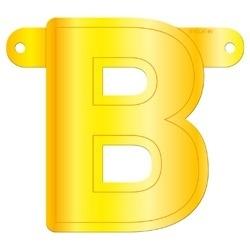Banner letter B geel