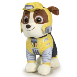 Paw Patrol Rubble Mighty Pups knuffel 19 cm.