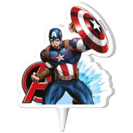 Captain America 2D verjaardag taart kaars