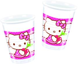 Hello Kitty Hearts bekertjes 20 cl. 8 st.