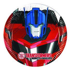 Transformers Power Up gebakbordjes ø 19,5 cm. 8 st.