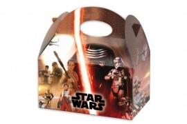 Star Wars Awakens traktatie doosje 16 x 16 x 10,5 cm.