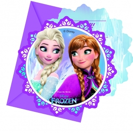 Disney Frozen Northern Lights uitnodigingen 6 st.