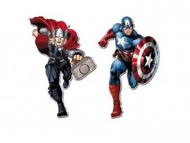 Avengers Assemble Captain America en Thor hangdecoratieset 30 cm.