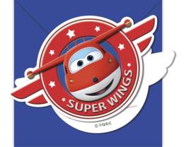 Super Wings uitnodigingen 6 st.