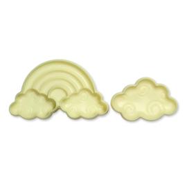Regenboog koekjes/fondant uitsteker