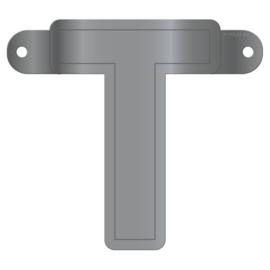 Banner letter T metallic zilver