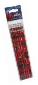 Spiderman uitdeel potloden rood 6 st.