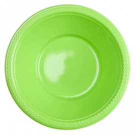 Lime groene wegwerp schaaltjes 355 ml. 10 st.