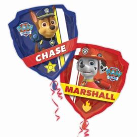 Paw Patrol Chase - Marshall folieballon XL 2-zijdig bedrukt