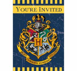 Harry Potter uitnodigingen 8 st.
