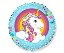 Unicorn folieballon Cute Unicorn ø 45 cm.