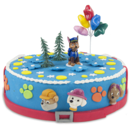 Paw Patrol Chase taart decoratie set