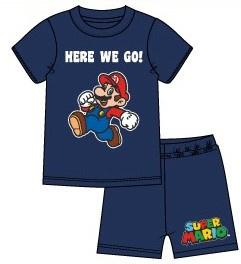 Super Mario Bros shortama donkerblauw mt. 104