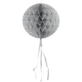 Honeycomb bal zilver ø 30 cm.