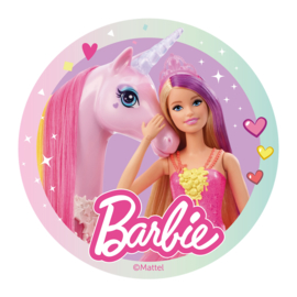 Barbie ouwel taart decoratie ø 20 cm.