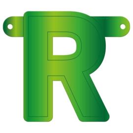 Banner letter R lime groen