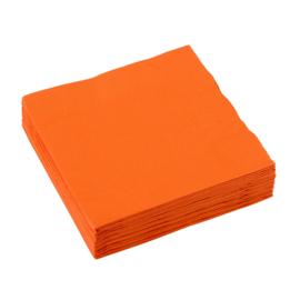 Servetten oranje 25 x 25 cm. 20 st.