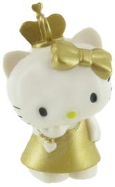 Hello Kitty taart topper decoratie goud 8 cm.