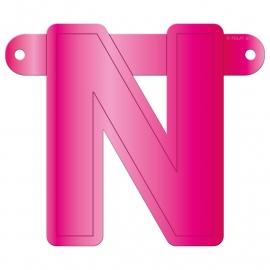 Banner letter N fuchsia