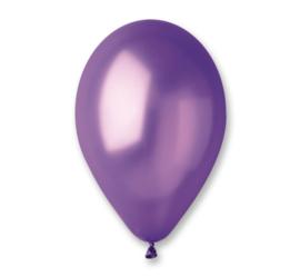 Ballon metallic paars ø 30 cm. 10 st.
