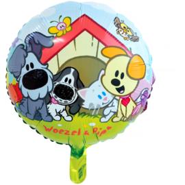 Woezel en Pip folieballon ø 45 cm.