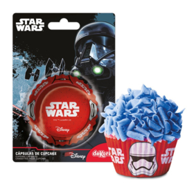 Star Wars Stormtrooper cupcake vormpjes rood 50 st.