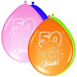 Sarah ballonnen regenboog ø 30 cm. 8 st.