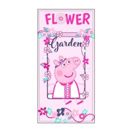 Peppa Pig strandlaken Flower Garden 70 x 140 cm.