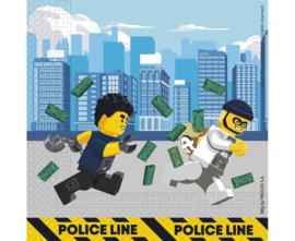 Lego City politie servetten 33 x 33 cm. 20 st.